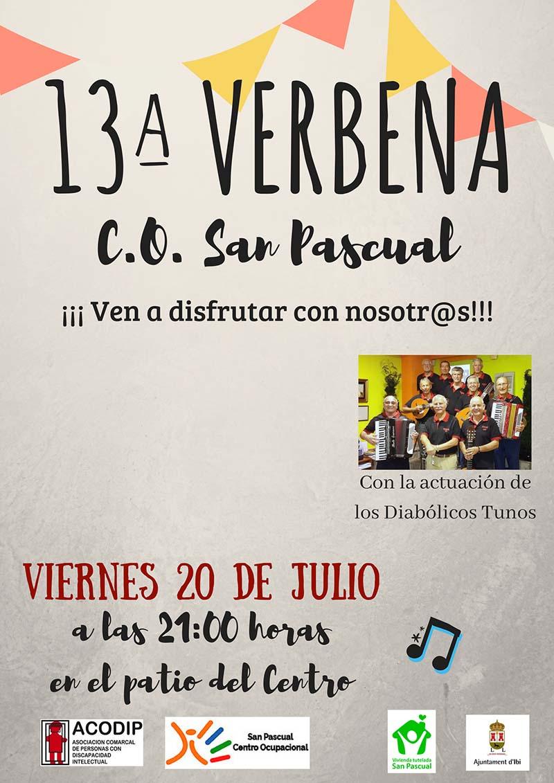 13ª Verbena – Viernes 20 de Julio de 2018. ¡Ven a disfrutar con nosotros!