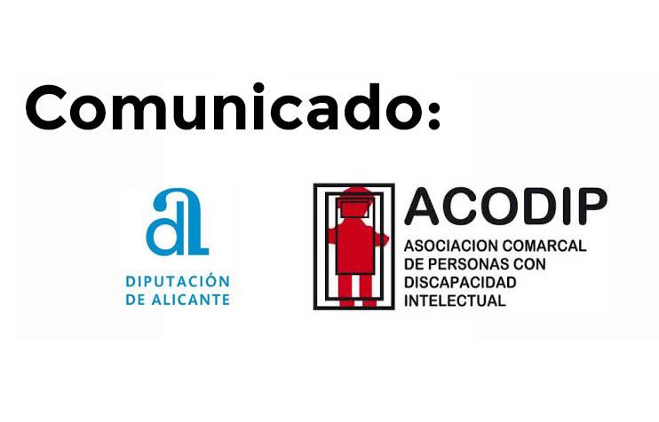 Comunicado diputación – 10 de octubre de 2019