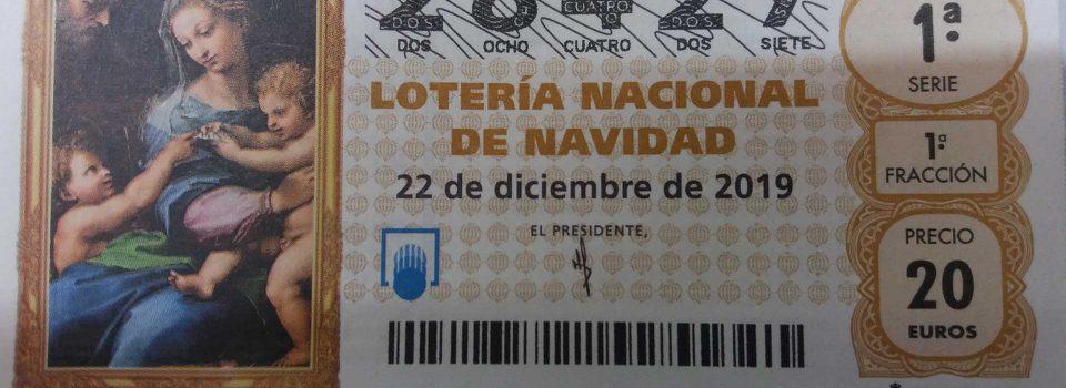 Nuestro décimo de lotería para navidad 2019